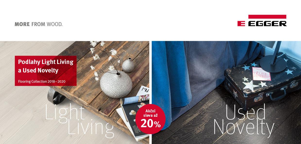 Podlahy Egger – venkovský a skandinávský styl bydlení za zvýhodněnou cenu