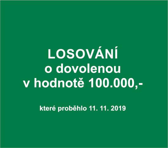 Losování o dovolenou v hodnotě 100.000,- kč